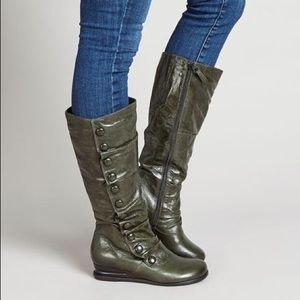 Miz Mooz Bloomed wide-calf leather boot